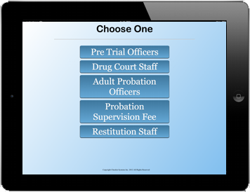 Probation Check In kiosk screen 2